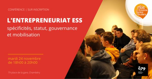 Spécificités de l'entrepreneuriat ESS: statut, gouvernance et mobilisation
