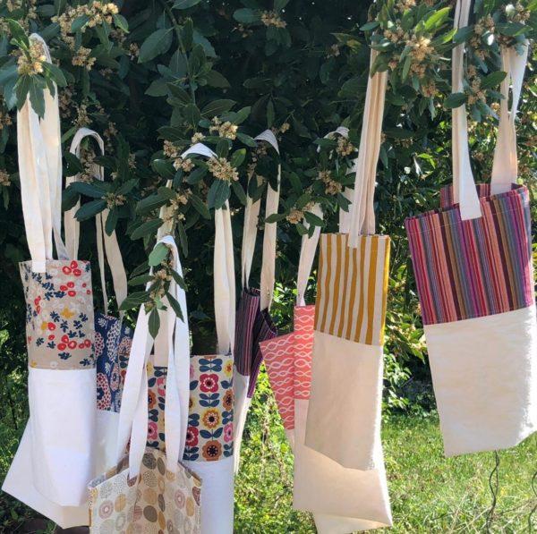 Fabrication d'un tote bag avec tissus de récup' - mois de l'ESS 2020