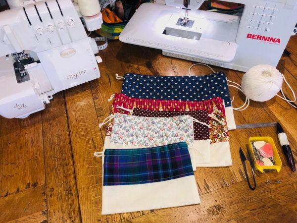 Fabrication de sacs à vrac avec tissus de récup' - mois de l'ESS 2020